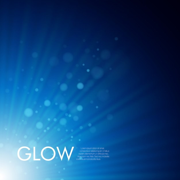 輝く光線のベクトルの背景 Premiumベクター
