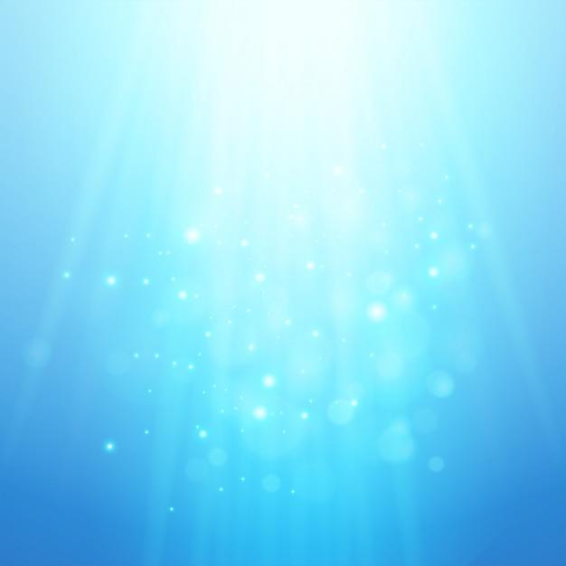 青い光線。ベクトルボケ背景をぼかした写真 Premiumベクター