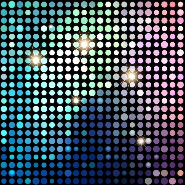 カラフルなドット抽象的なディスコの背景。ベクトルの背景 Premiumベクター