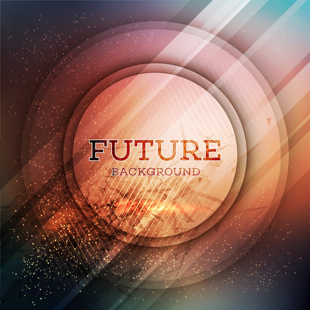 円形の未来的な背景 Premiumベクター
