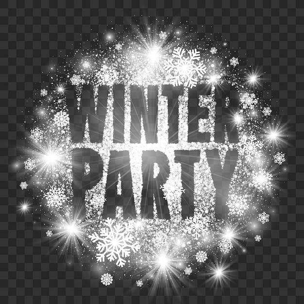 冬パーティーの抽象的なイラスト透明な背景 Premiumベクター