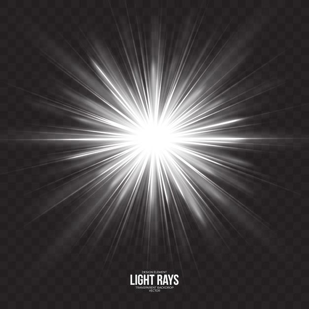 Абстрактные световые лучи эффект векторный фон Premium векторы