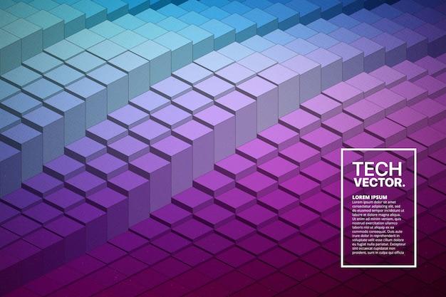 抽象的なベクトル技術波形カラフルな明るい背景。 Premiumベクター