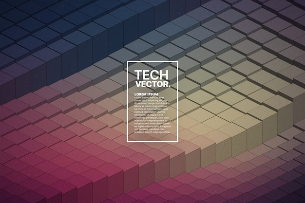 Абстрактные векторные технологические формы волны красочный яркий фон. Premium векторы