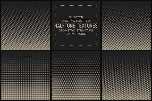 抽象的な点線のハーフトーンテクスチャベクトルを設定 Premiumベクター