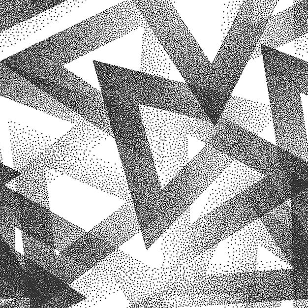 抽象的な点描シームレスパターン背景 Premiumベクター