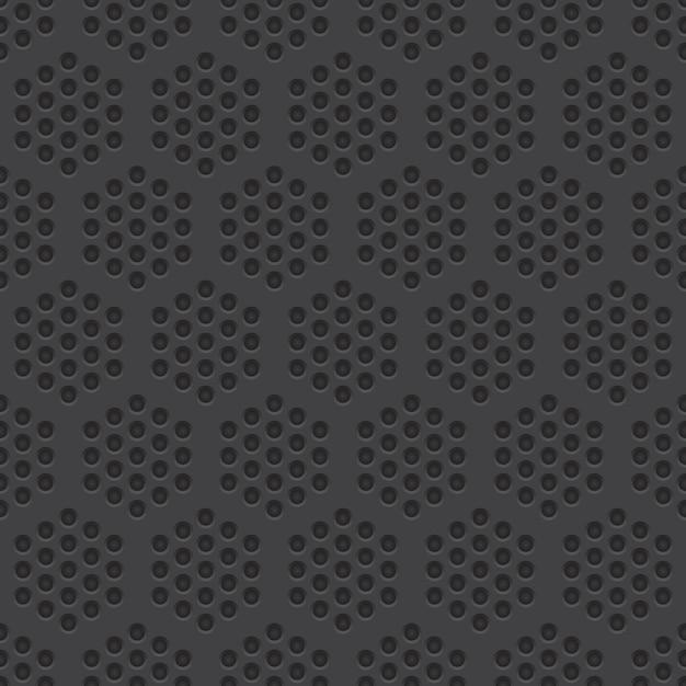 穴があいた材料のシームレスなパターン背景 Premiumベクター