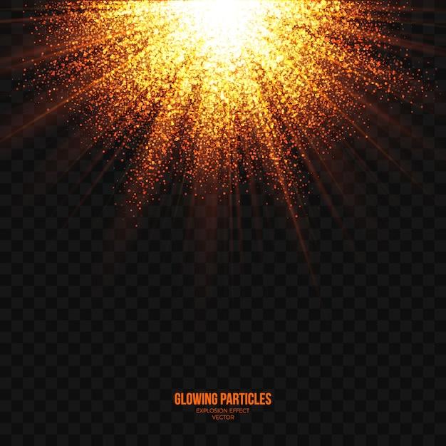 光爆発効果透明な抽象的なベクトル Premiumベクター
