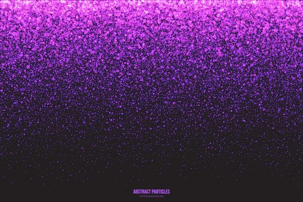 Фиолетовый мерцающий светящийся фон частиц Premium векторы