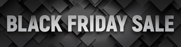 Черная пятница распродажа широкий баннер Premium векторы