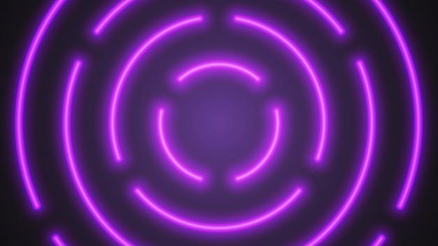Неоновые трубки фиолетового освещения Premium векторы