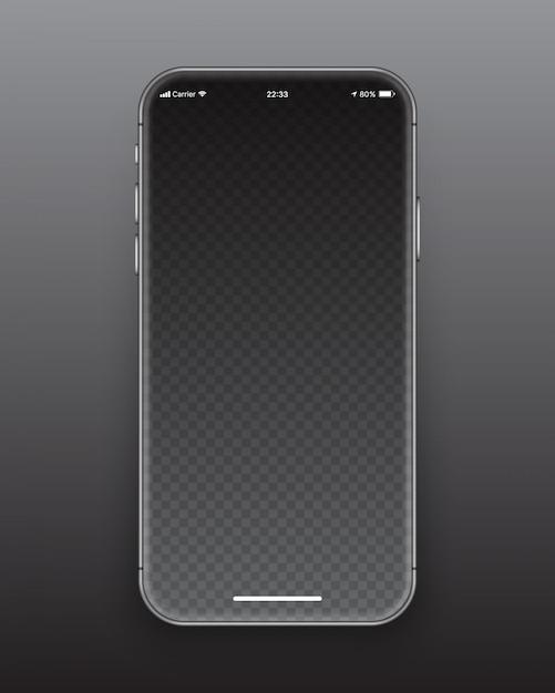 Безрамочный макет экрана смартфона Premium векторы