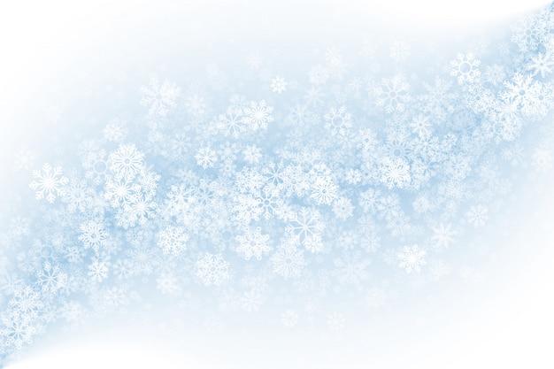 Очистить пустой зимний фон Premium векторы