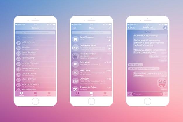 メッセージングアプリ Premiumベクター