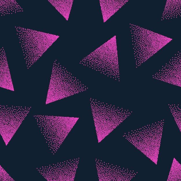 ピンクの抽象的な点描シームレスパターン Premiumベクター