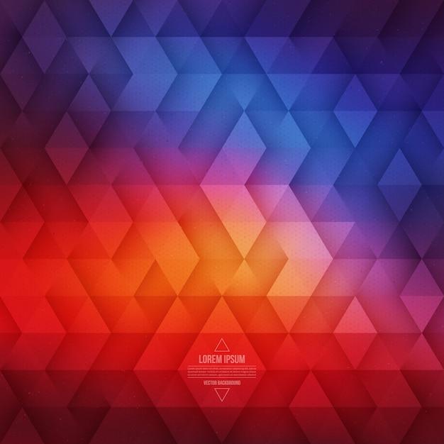 ベクトル三角形の抽象的な幾何学的な背景 Premiumベクター