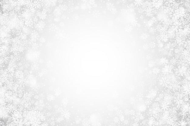 ホワイトクリスマスクリアな抽象的な背景 Premiumベクター