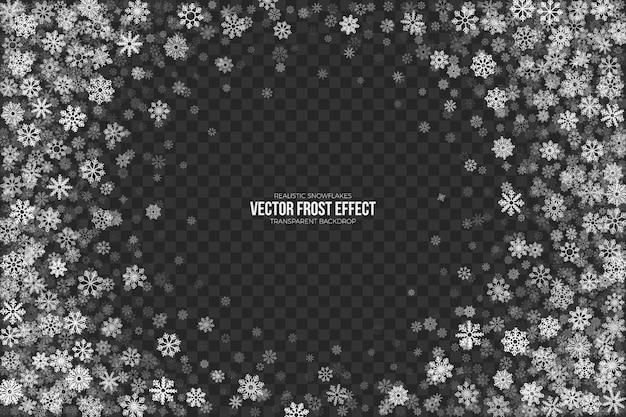 透明な雪の霜の効果 Premiumベクター