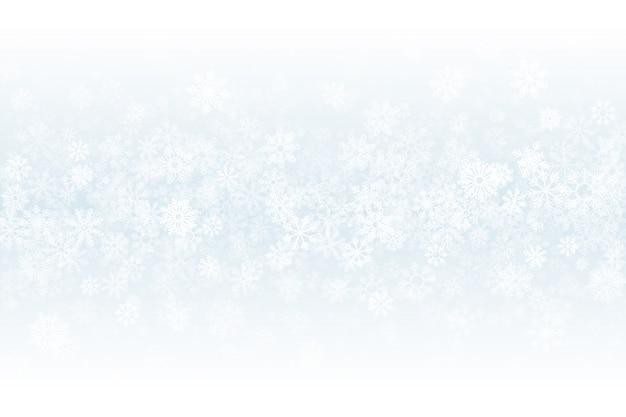 冬の雪の空の光の抽象的な背景 Premiumベクター