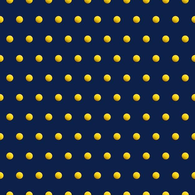 青い色の抽象的な背景の金の点。美ベクトルシームレスパターン。 Premiumベクター