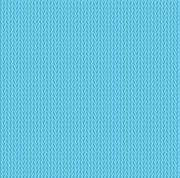 ニットテクスチャライトブルー色。 Premiumベクター
