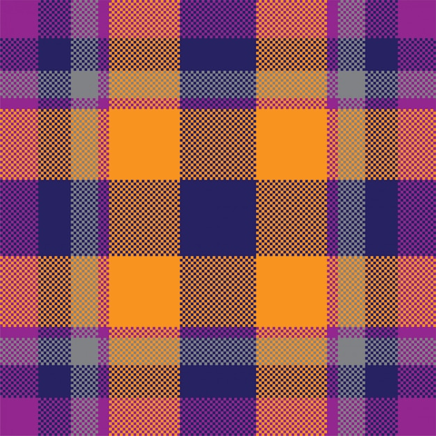 Тартан шотландия бесшовные плед. Premium векторы