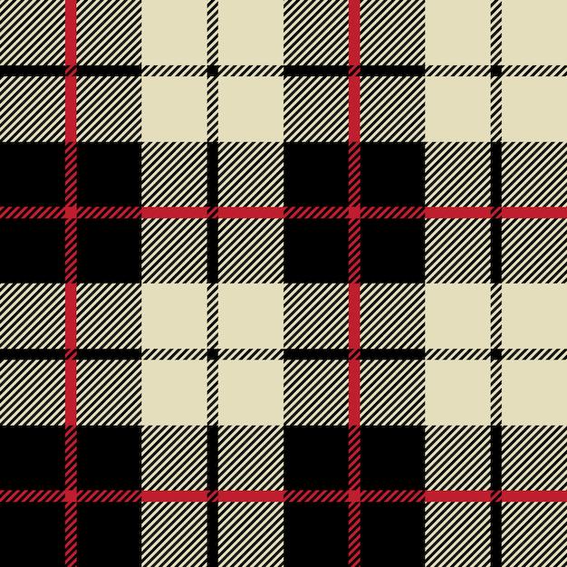 Черно-белая текстура ткани в квадратный узор бесшовные Premium векторы