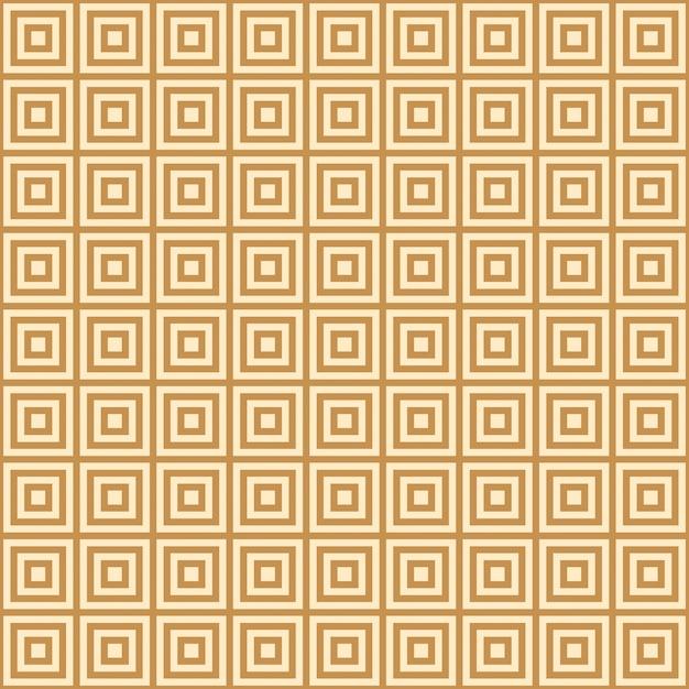 Золотой квадрат на желтом фоне бесконечного восточного узора Premium векторы