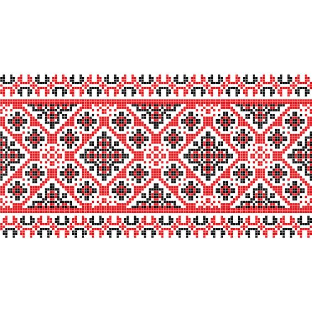Текстура ткани национального образца горизонтальная Premium векторы