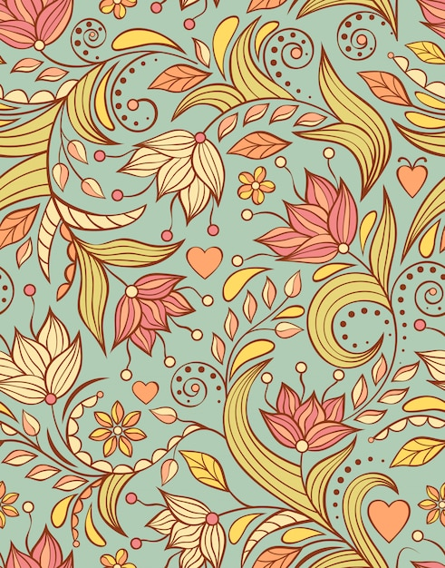 抽象的な花のパターン Premiumベクター