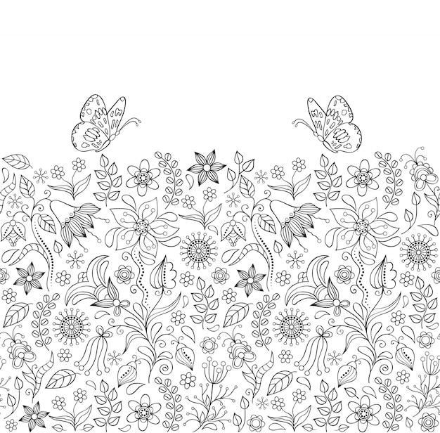 花の背景 Premiumベクター
