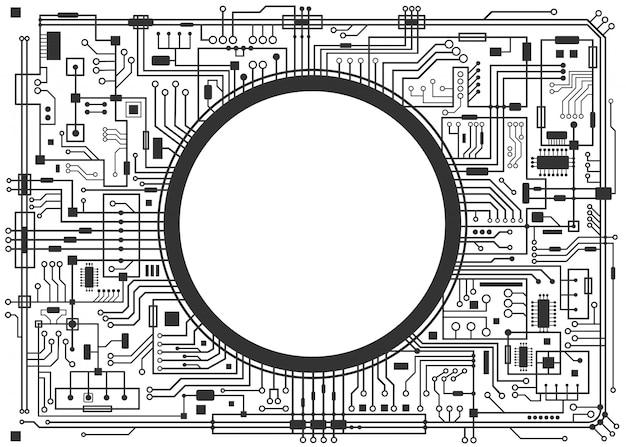 コンピュータ回路基板 Premiumベクター