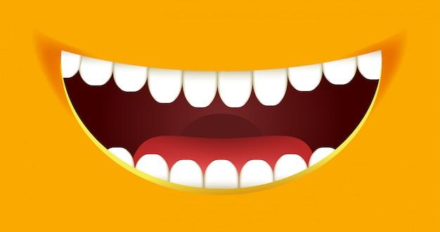 歯でいっぱいの口を開けて Premiumベクター