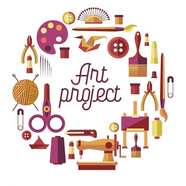 クリエイティブアートプロジェクト Premiumベクター