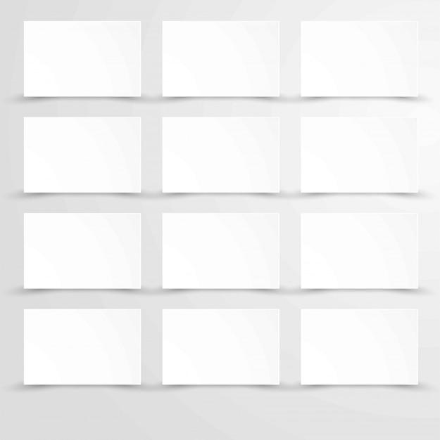白い長方形のポスターコピースペースを持つ空の空白の紙 Premiumベクター