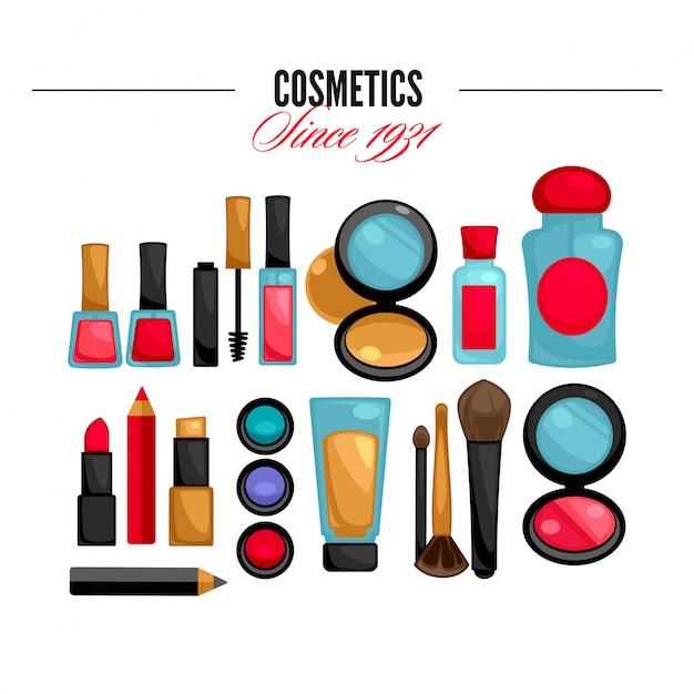 Косметика и мода составляют предметы Premium векторы