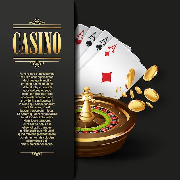カジノの背景 Premiumベクター