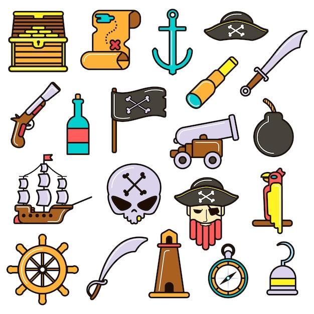 海賊セット Premiumベクター