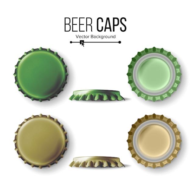 ビールキャップ Premiumベクター