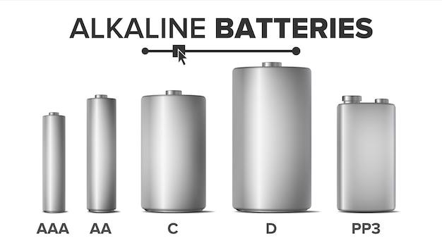 アルカリ電池 Premiumベクター