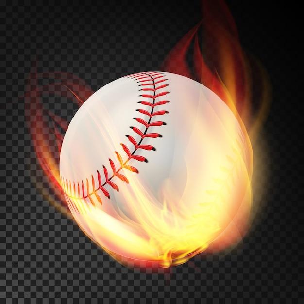 野球の火 Premiumベクター