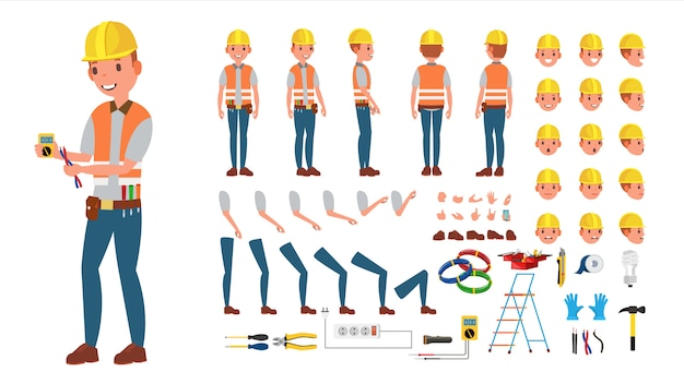 電気技師 Premiumベクター
