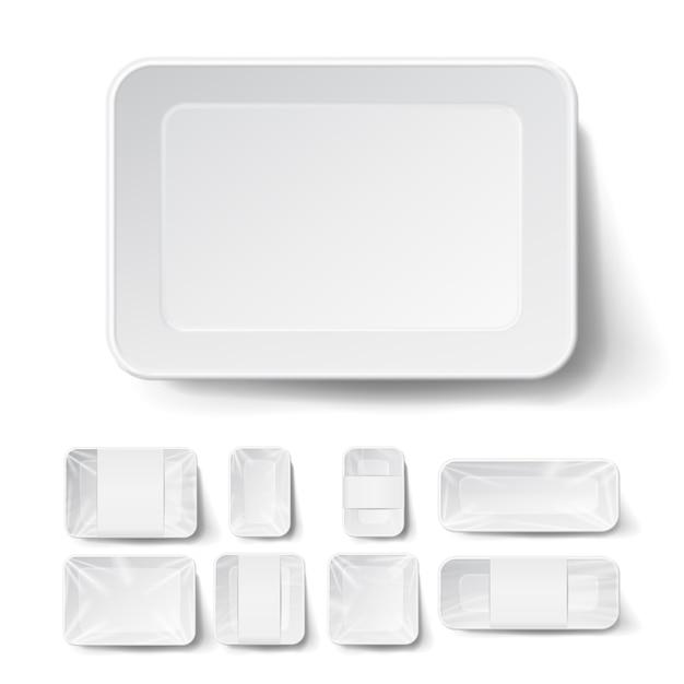 Реалистичный пищевой контейнер Premium векторы