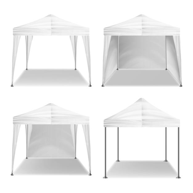 折りたたみテント屋外パビリオン Premiumベクター