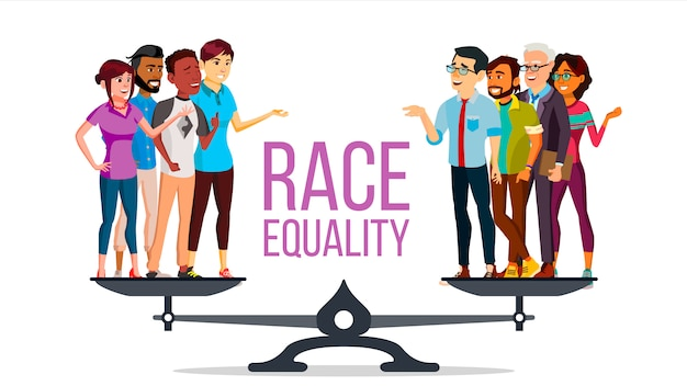 Расовое равенство Premium векторы