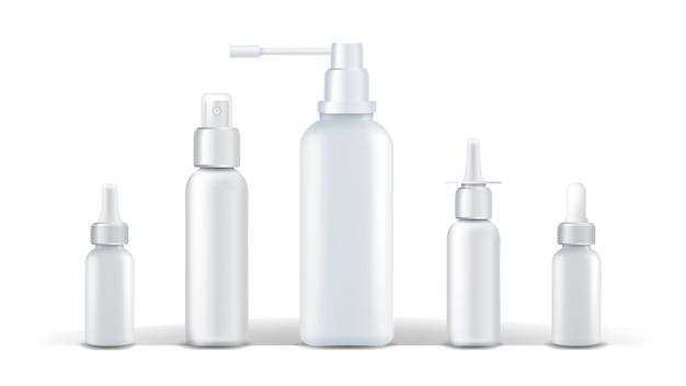 医療容器のベクトル。スプレー鼻水 Premiumベクター