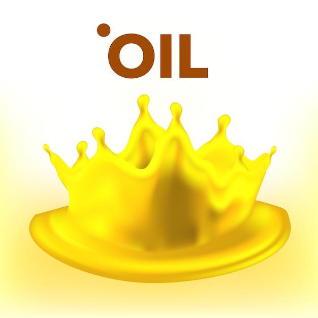Всплеск масла. рекламное объявление. чистый поток. топливная волна Premium векторы