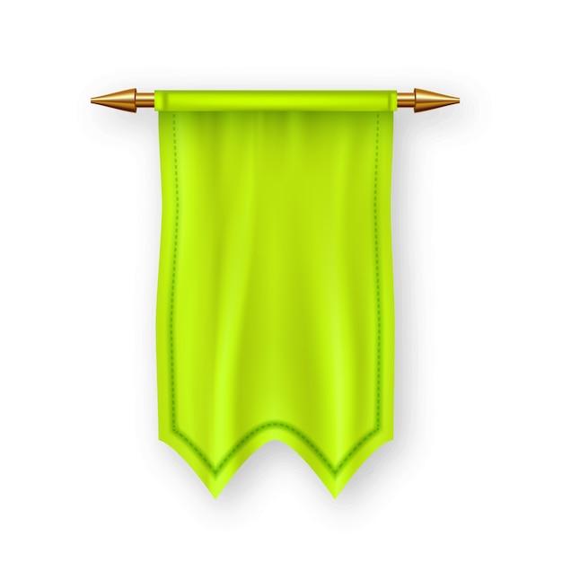 黄色のペナントの旗 Premiumベクター