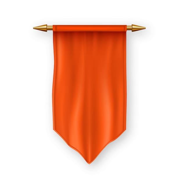 オレンジペナの旗 Premiumベクター