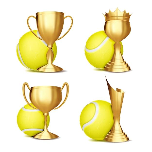 Набор наград для игры в теннис Premium векторы